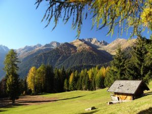 Paesaggio della Val di Non in Trentino